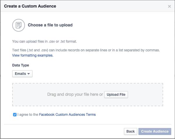 Facebook, ciblage par email